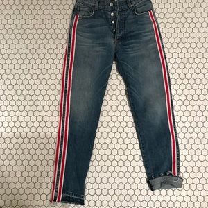 Revice Jeans with Red Stripes